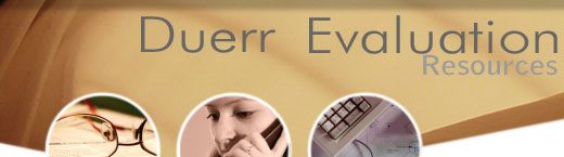 Duerr Evaluation Resources | Professional Evaluation, Survey, Analysis and Reporting Services